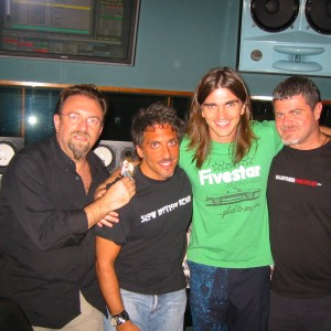 Juanes, Santoalalla, Kerbel at Hit Factory Miami